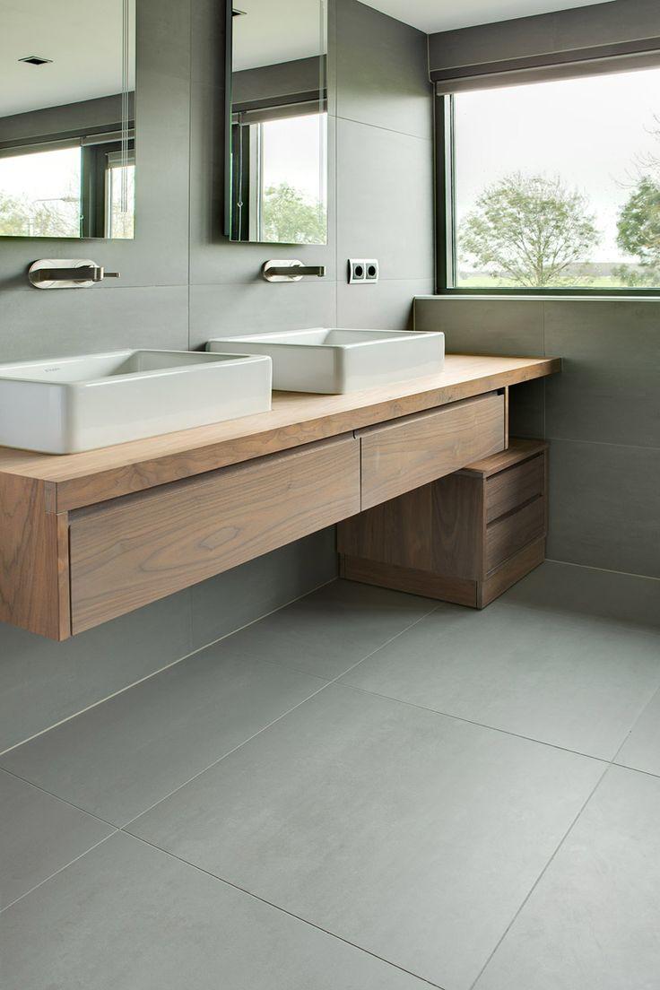 Moderne Badkamermeubel Hout: Moderne mdf of spaanplaat badkamermeubel ...