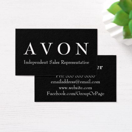 Avon Sales Representative Black Business Cards - black and white gifts unique special b&w style