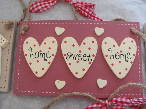Wooden Wall Plaques Home sweet Home, Welcome, Live Laugh & Love Shabby Chic New | eBay