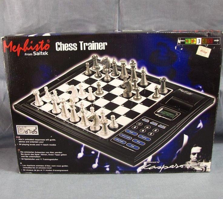 Mephisto Chess Trainer Saitek Talking Computer Sensory Board Improve Skills 2003 #Saitek