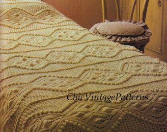 Crochet Bobble Bedspread ... PDF Crochet by ChicVintagePatterns