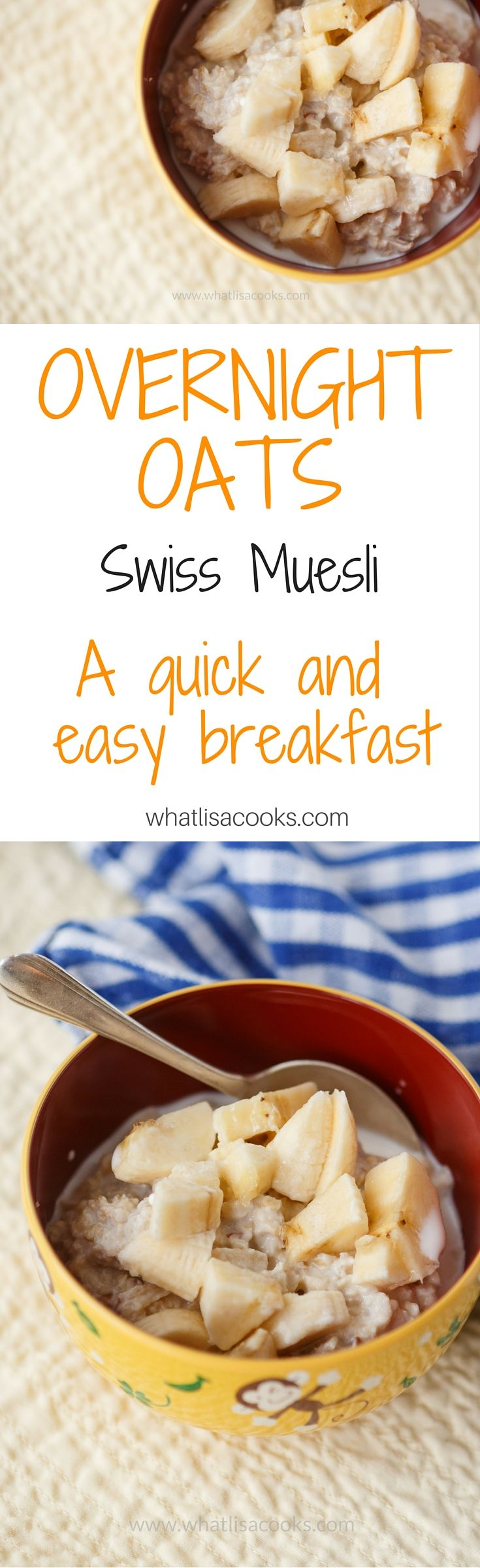 The original overnight oats recipe - Swiss Muesli - an easy breakfast recipe for the family. Packed with protein and fiber. whatlisacooks.com