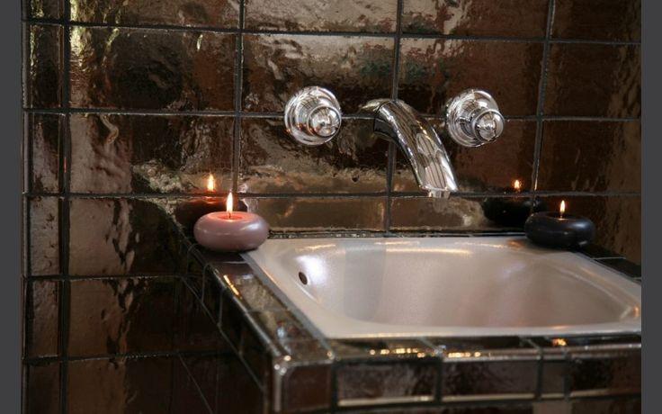 Vasque carrée à encastrer Tian métallisé argent 45 x 45 x h 20 cm