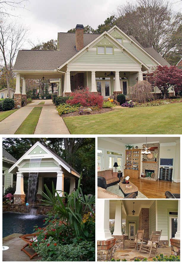 Perfect Bungalow House Plan Craftsman Columns Swimming