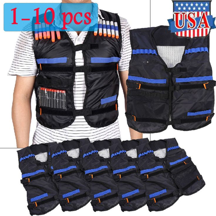 The item is made of high quality and safe material and perfect fit to your other Nerf N-Strike equipments. Load up big-time for any N-Strike Elite mission with the Tactical Vest. The vest's dart storage loops hold up to 12 darts, and you can fit 2 Quick Reload Clips in the clip storage area. | eBay!