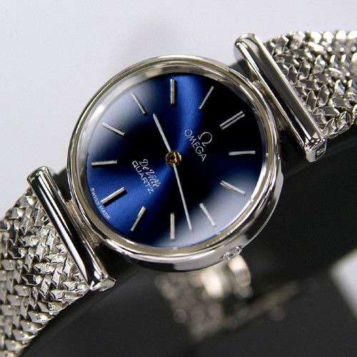 Omega Ladies Deville Blue Dial Quart watch  It's good for your girl friend!