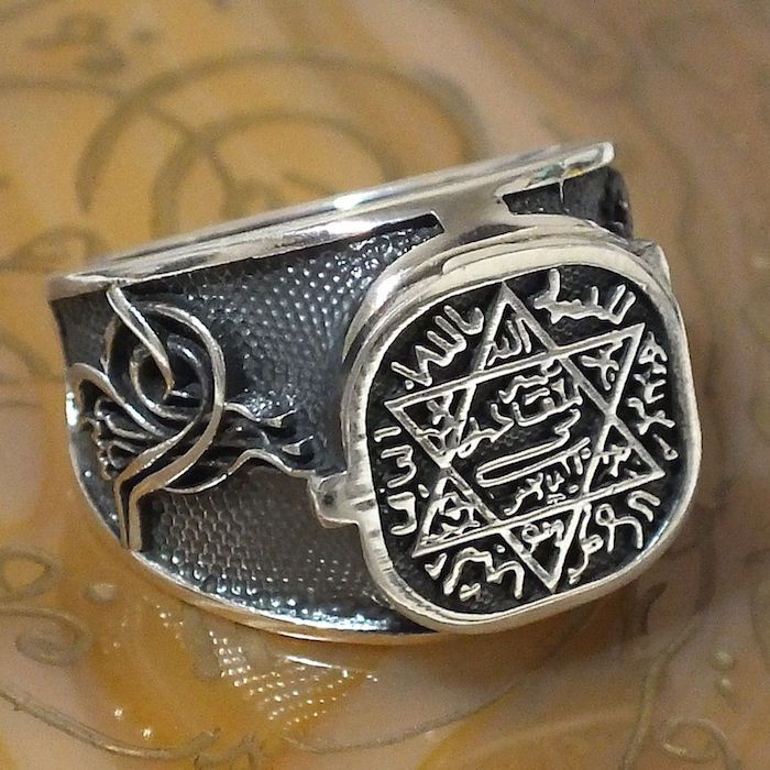 925 Sterling Silver Men's Ring with Seal of Solomon Unique Talisman ring | Jewelry & Watches, Men's Jewelry, Rings | eBay!