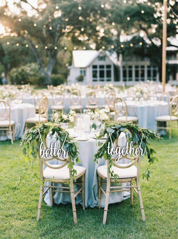Verkauf besser zusammen – Stuhl Zeichen Hochzeit – besser zusammen Stuhl Zeichen …   – one day