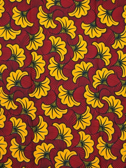 Real Wax Print African Fabric 6 Yards 100 Cotton by Africanpremier, $24.99