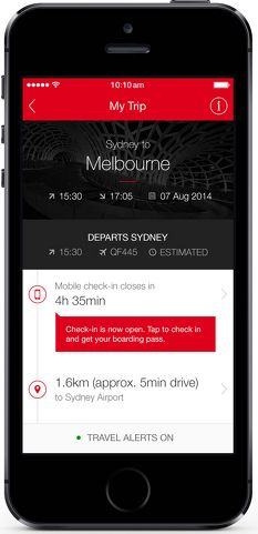Qantas upgrades iPhone app, now 'full service travel companion' - Australian Business Traveller