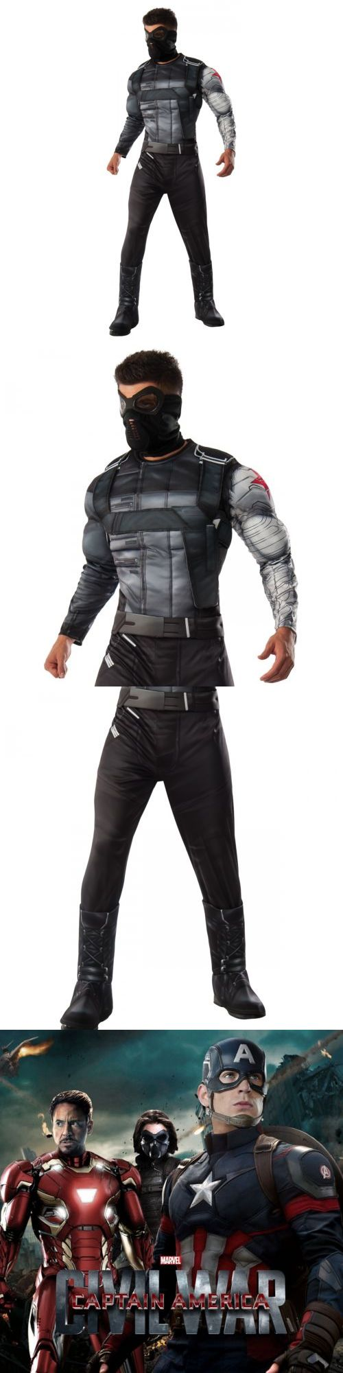 Men Costumes: Winter Soldier Costume Adult Halloween Fancy Dress -> BUY IT NOW ONLY: $43.39 on eBay!