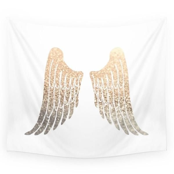 """GOLD WINGS Wall Tapestry - Small: 51"""" x 60"""" - Medium: 68"""" x 80"""" (Twin Size) - Large: 88"""" x 104"""" (Full/Queen Size) Available in three distinct sizes, our Wall Tapestries are made of 100% lightweight po"""
