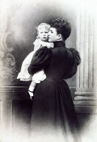 Queen Alexandra holding her grandson, Prince Edward, later Edward VIII.