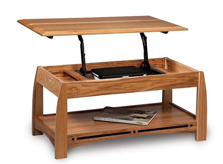Amish Boulder Creek Open Lift Top Coffee Table with Counter Weight Coffee table, dining table or desk, the Boulder Creek Lift Top Coffee Table wears many hats.