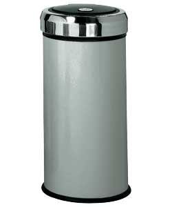Buy 30 Litre Matt Black Press Top Bin - Silver at Argos.co.uk, visit Argos.co.uk to shop online for Kitchen bins
