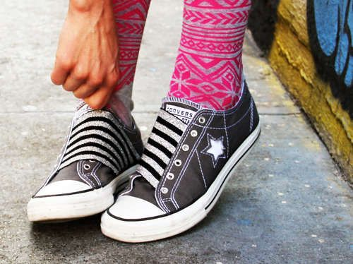 aaaccck! I have to make these! so cute!: Lace, Idea, Craft, Diy'S, Converse, Shoe Makeover, Elastic Shoes