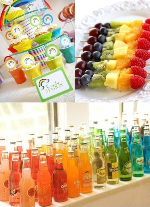 Rainbow Party Inspiration Board adelaide-s-first-b-day-ideas