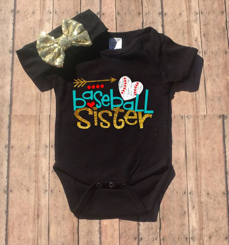Baseball Sister Outfit, Baseball Sister Bodysuit, Baseball Sister Glitter, Sparkle, Baseball Sister Outfit, Baby Girl Outfit by LittleJaneLaneDesign on Etsy https://www.etsy.com/listing/459083232/baseball-sister-outfit-baseball-sister
