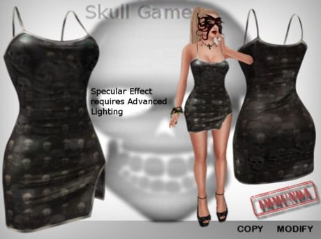 immunda Skull Game (Mesh Dress) Halloween promotional price for a limited time