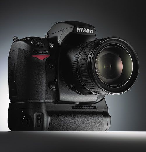 Nikon D700 with Vertical Grip - yes, I switched to the Nikon system for it's full-frame sensor and low light abilities.