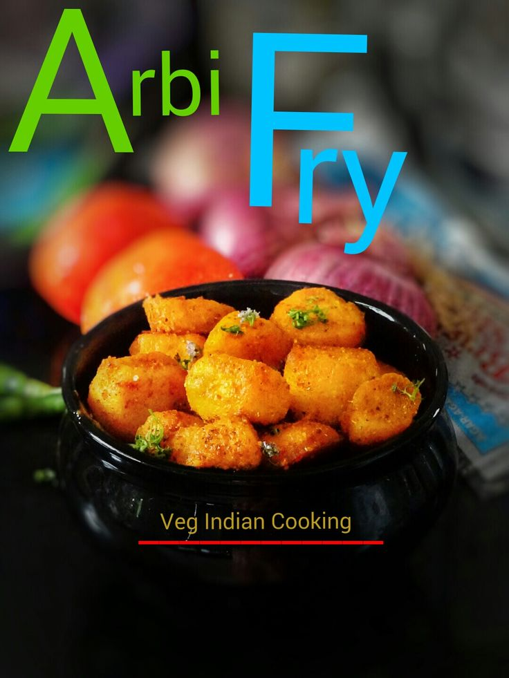Arbi Fry | Colocasia roots Masala Fry| Arvi root Fry  Super quick, easy and scrumptious recipe of Colocasia roots which are shallow fried and flavored with Indian spices. #ArbiFry, #Colocasiaroots  #Arvi  #Colocasia, #sidedish