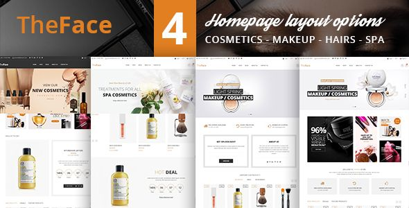 Theface Beauty Cosmetics Ecommerce Bootstrap 4 Template Cosmetic Store Beauty Cosmetics Shine Control Products
