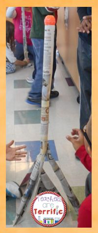 It's another version of an egg drop! This time students will make a tower and it must support the weight of an egg! Can they prevent the egg from dropping? #STEM #Eggdrop #TpT