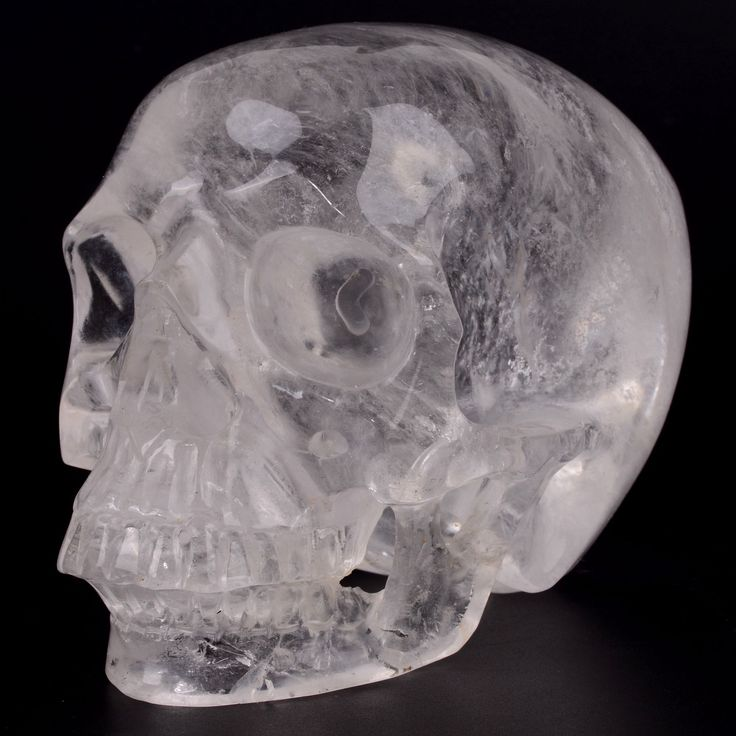 New Arrival ,Giant Clear quartz carved realistic skull carving,top quality