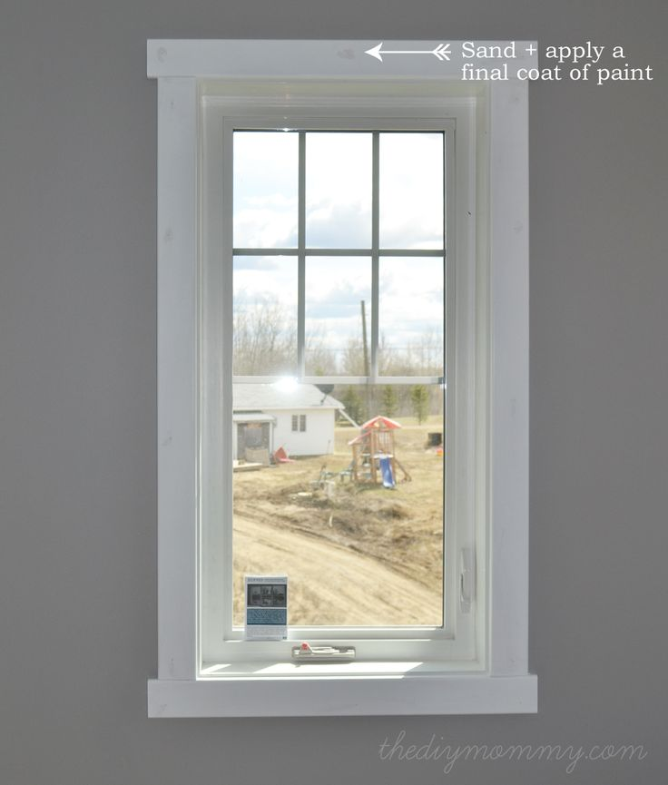 diy modern easy craftsman window trim - Interior Design Windows