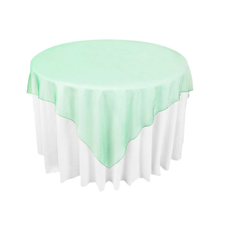 Mint Green Organza Table Overlay Cloth 72X72 Wedding Supply Party Sheer Colors New -OCL from Weddingaccessory,$3.82 | DHgate.com