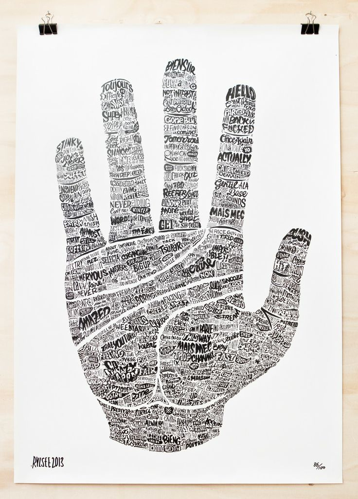 RYLSEE | GIANT HAND (PRINT) via I DO ART | WEBSHOP. Click on the image to see more!