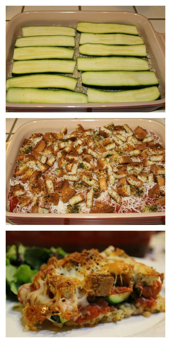 A delicious and healthier alternative to traditional chicken Parmesan: Baked Zucchini Parmesan | 5DollarDinners.com