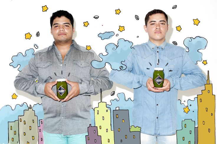 Illustrations by local artist! #greenjuice