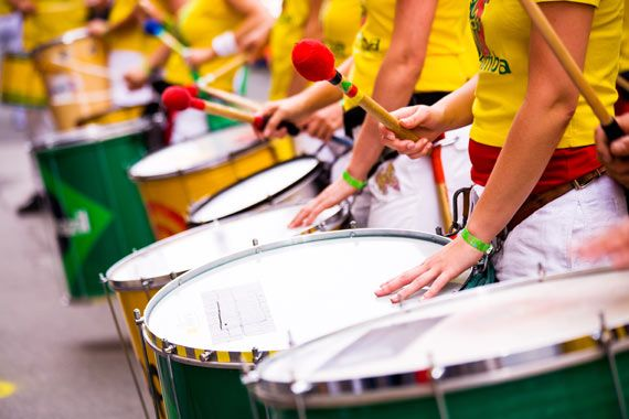 Out of the jungle, and on to Salvador, the capital of Brazil's northern state of Bahia where Brazilian samba was born. This will be our chance to learn some new moves on the dance floor and on the drums.