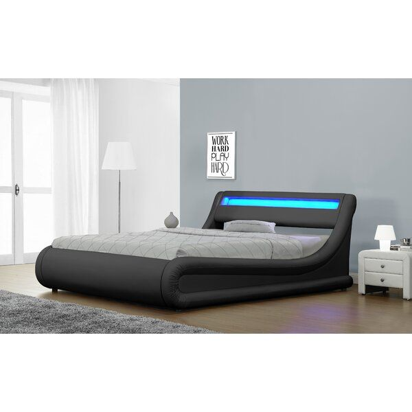 Jovenko Upholstered Led Storage Platform Bed Upholstered