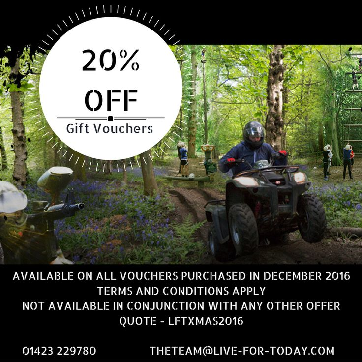 Are you a last minute shopper like me?? Grad a bargain on our adventures valid in December only. Quote LFTXMAS2016. #giftvouchers #adventure #whatsyouradventure