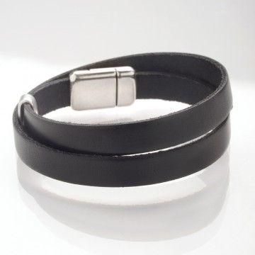 bracelet cuir double tour homme