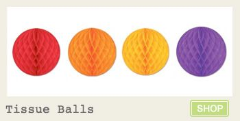Tissue balls in ALL colors! Only 2.50 each! Kara's Party Ideas Shop- www.KarasPartyIdeas.com/shop #tissue #balls #party #decorations