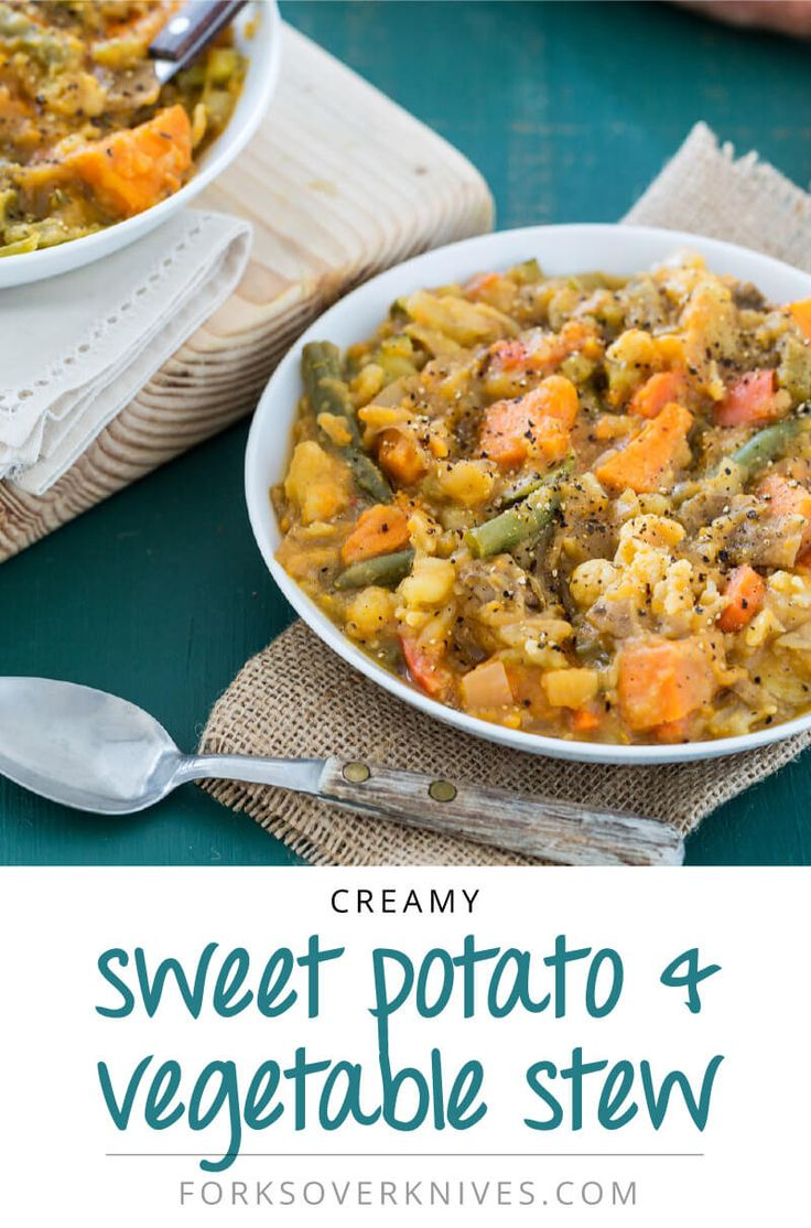 Creamy Sweet Potato and Vegetable Stew - Forks Over Knives
