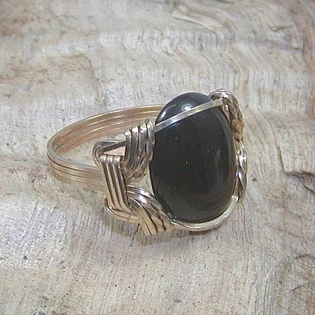 22 best men jewelry images on pinterest wire wrapped jewelry smooth and shiny black onyx mens wire wrapped ring sz by wiregems publicscrutiny Image collections