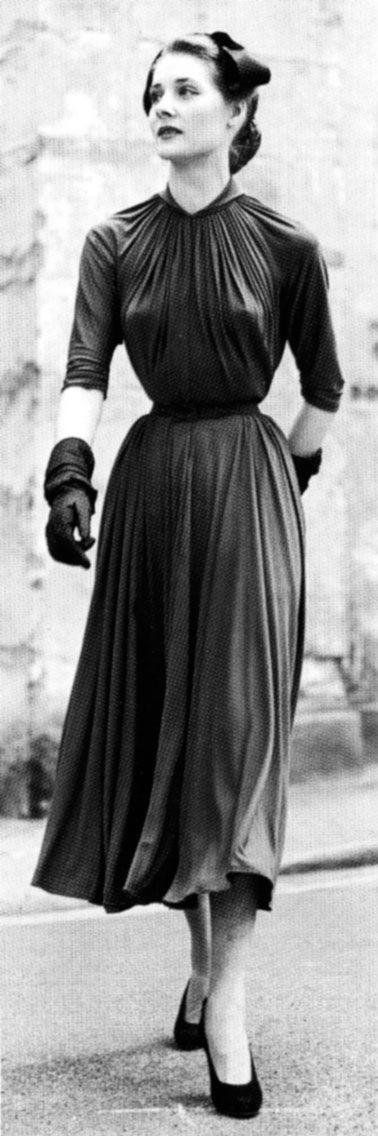 Gres, 1953. vintage long dress
