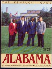 Alabama Game PROGRAM 1989 9/23/1989 Kentucky 3 @ Alabama 15 Bryant-Denny Stadium #Alabama #RollTide #Bama #BuiltByBama #RTR #CrimsonTide #RammerJammer
