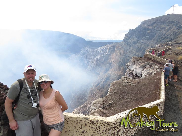 Couple on a guided trip enjoying the stunning view of the Masaya Volcano National Park... See more at: https://www.costaricamonkeytours.com/costa-rica-tour-26/