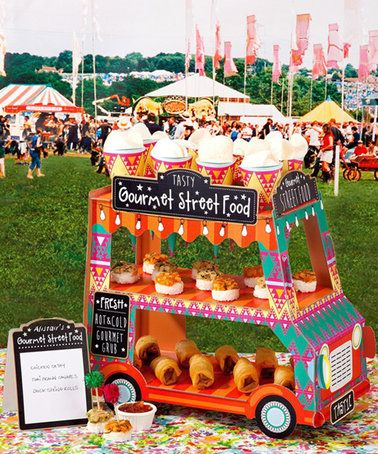 Another great find on #zulily! 'Gourmet Street Food' Bus Shaped Food Stand #zulilyfinds