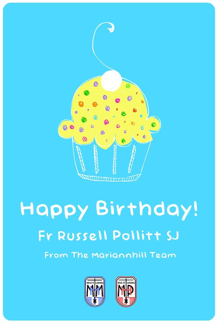 Happy Birthday Fr Russell Pollitt SJ! Illustration by Shereé Conway of Mariannhill Media.