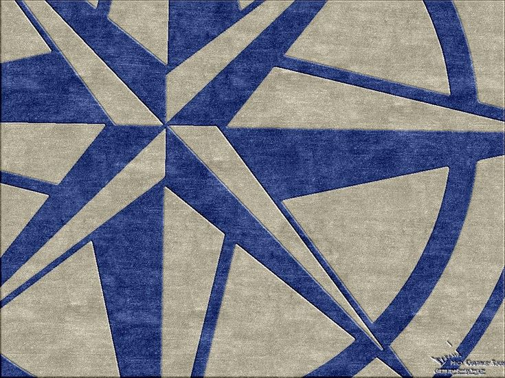 Compass Detail - Nautical Theme Custom Area Rug. Make yours at  www.HighCountryRugs.