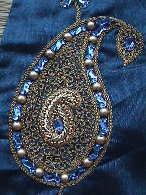 SRI AARI CREATIVES: Aari embroidery on stitched blouse