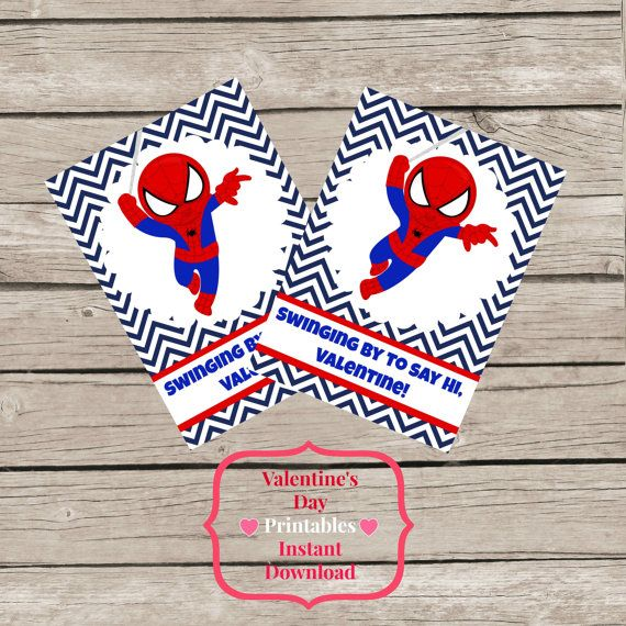 spiderman valentines day cards printable