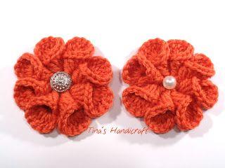 Tina's handicraft : 3D crochet flower No 7