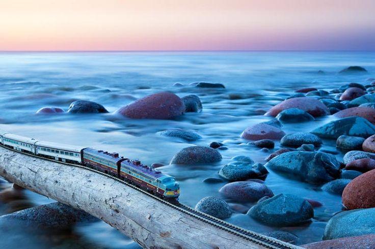 Miniatura de trem em belíssimas imagens
